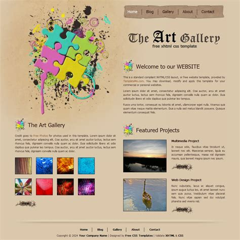 Free Template 135 Art Gallery Gallery Template