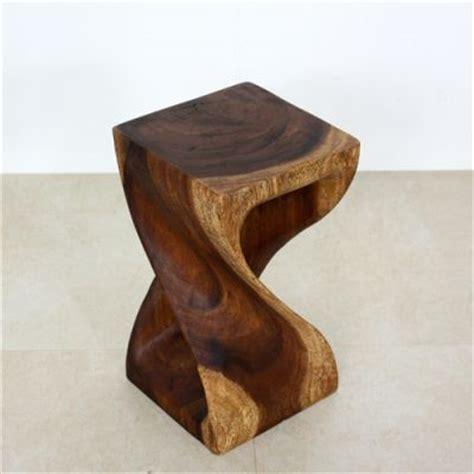 Monkey Pod Stool by Monkey Pod Twisted Wooden Stool Modern Bar Stools And