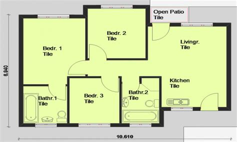modern house floor plans free free contemporary house plan