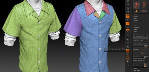 zbrush tutorial clothes defining seams with polygroups by gavin goulden