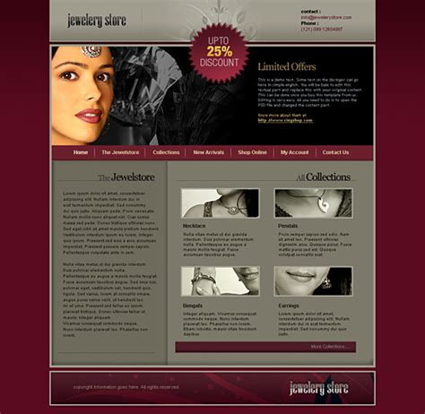 css templates for jewellery website jewelry store css template 2441 jewelry website