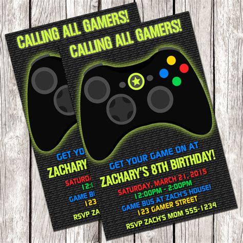 free printable birthday invitations video games gamer invitation video game birthday party diy printable