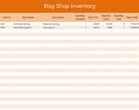 jewelry inventory spreadsheet template pictures to pin on