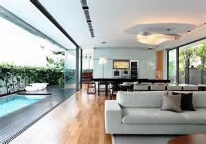 Modern House Living Room Detached Modern House Living Room