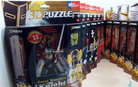 Terlaris Figur Figure Great Warrior Puzzle 4d European Crusader With jomi toys maintenance 3dpuzzle great warriors