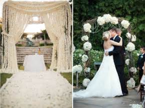wedding ceremony arch wedding ceremony decor altars canopies arbors arches and chuppahs the magazine