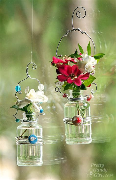 Hanging Flower Vase by Hanging Beaded Glass Flower Vases Pretty Handy