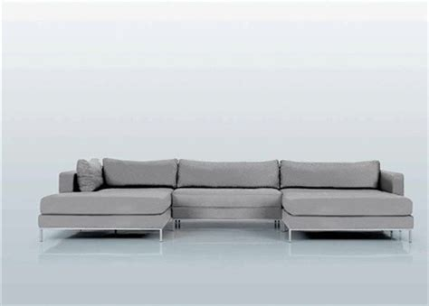 sectional sofa with double chaise ahlmeda double chaise sectional modern sectional sofas