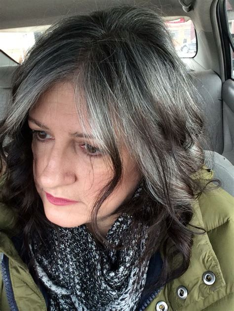 frosting dark hair to grown out gray 61 best gray is the new black images on pinterest going