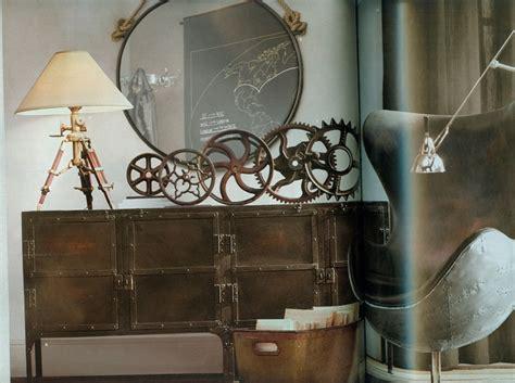 Mirror Wall Murals steampunk interior design restoration hardware