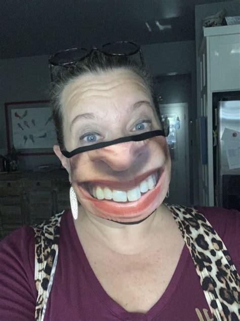 people  sharing  custom face mask fails  pics