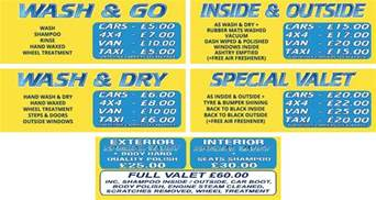 Prices Of Services And Prices Car Wash
