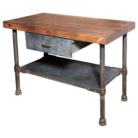 Kitchen Working Table Vintage Industrial Kitchen Work Table At 1stdibs