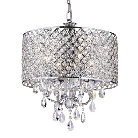 Chandelier Lighting Fixtures Edvivi Marya 4 Light Drum Chandelier Wayfair