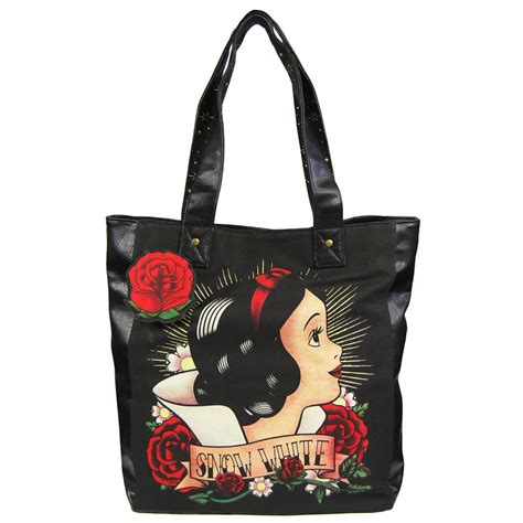 snow white tattoo tote bag by loungefly