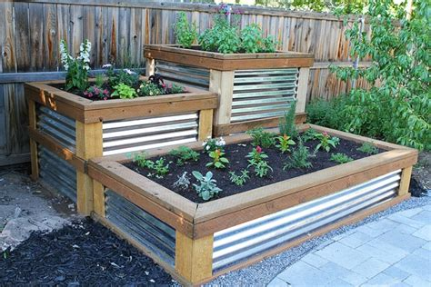 galvanized raised garden bed 25 diy raised garden beds corrugated metal wood