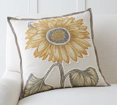 Sunflower Rug Pottery Barn by Sunflower Applique Pillow Cover Pottery Barn