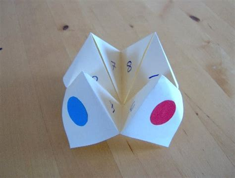 How To Make Simple Things Out Of Paper - creative teacherette fortune teller