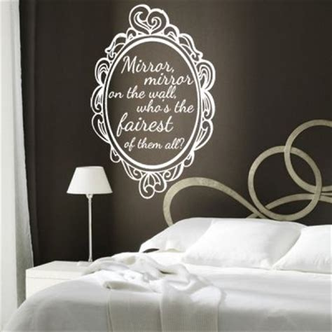 mirror mirror on the wall sticker mirror mirror on the wall snow white quote wall sticker available 13836 quotesnew