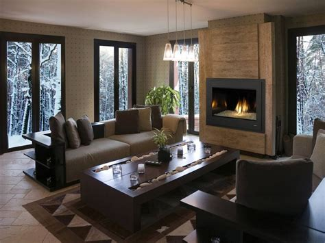 enchanting modern gas fireplace   living room