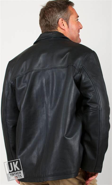 mens black leather jacket  size moore superior