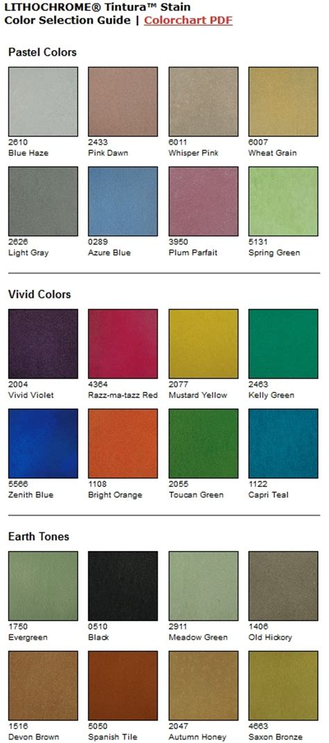 scofield color chart 1000 images about water based concrete stain color charts