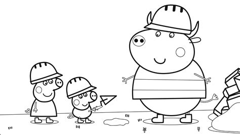 peppa pig coloring pages youtube peppa pig with george and other coloring book coloring