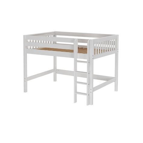 mid loft bed maxtrixkids king ws mid loft bed with straight ladder