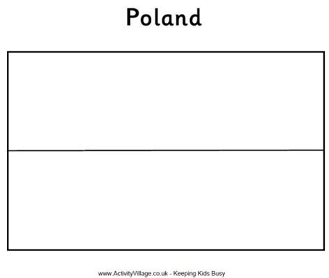 Polish Flag Colouring Page