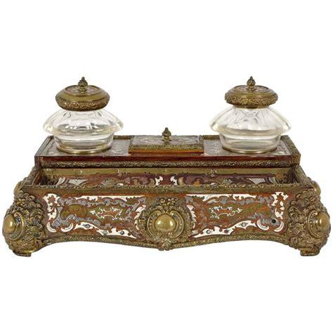 Decorative Desk Accessories Sets by Superb Regency Rosewood Inlaid Brass Desk Stand Inkstand