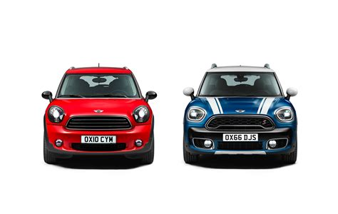 Mini 1 Second photo comparison mini r60 countryman vs new mini f60 countryman