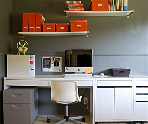 organized office desk from my orange desk i an organized office