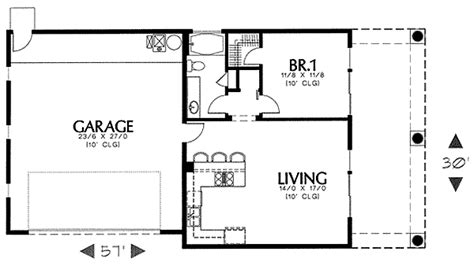 Garage Guest House Floor Plans by Architectural Designs