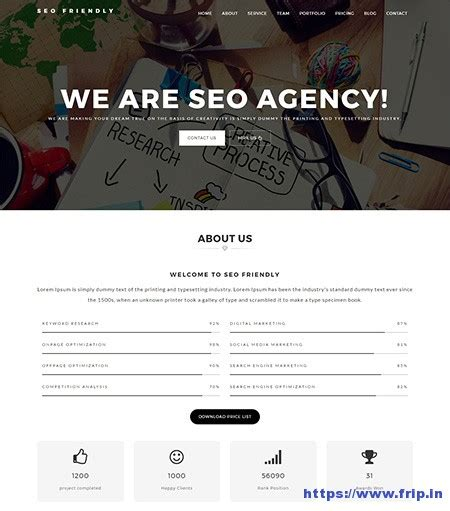 30 best seo website templates for seo companies agency