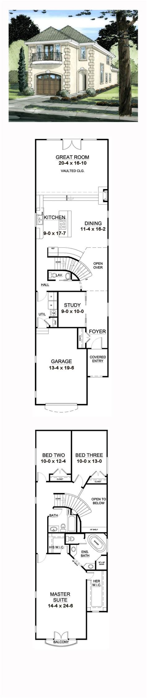 narrow lot 2 story house plans florida house plan 99997 house chang e 3 and narrow lot
