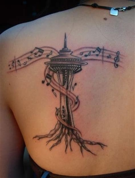 seattle space needle tattoo brilliant ink pinterest
