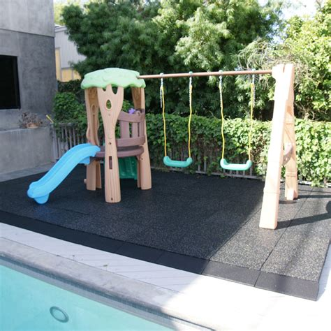 Rubber Playground Flooring by Eco Safety 3 Inch Rubber Playground Tiles
