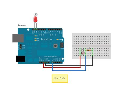 photoresistor controlling led s4a