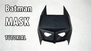 How To Make A Mask With Paper - easy paper batman mask tutorial origami diy henry phạm