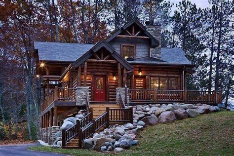cabin houses beautiful log cabin home my wish list pinterest