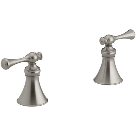 kohler revival bathroom faucet kohler revival 2 handle high flow bathroom faucet trim kit in vibrant brushed nickel