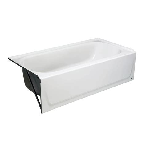 bootz bathtubs bootz industries maui 5 ft left drain soaking tub in