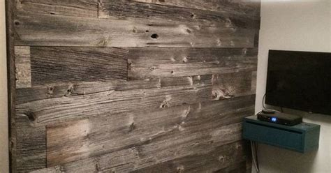 reclaimed grey barn board feature wall  barnboardstore