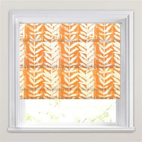 Orange Patterned Blinds striking bright orange white fern patterned blinds