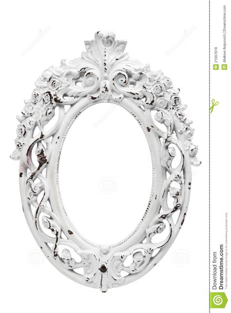 Vintage White by Ornate Vintage White Frame Royalty Free Stock Images