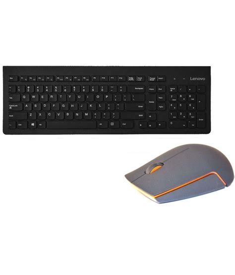 Keyboard Mouse Wireless Lenovo lenovo gx30h55793 wireless keyboard mouse combo black