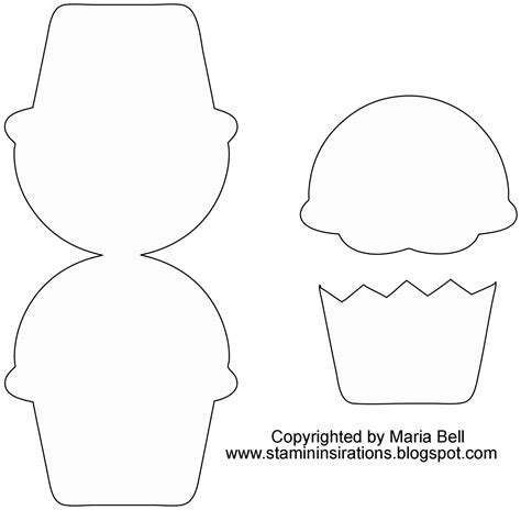 cupcake template to print printable cupcake template card