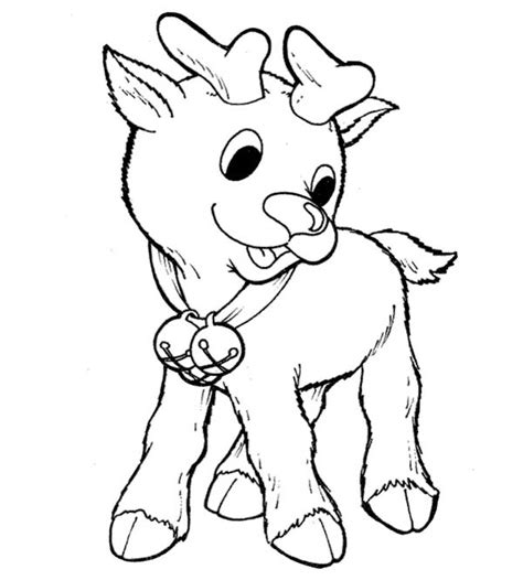 coloring pages of baby reindeers little rudolph the red nosed reindeer coloring page