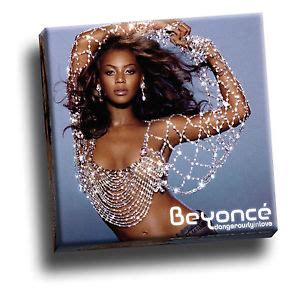 Beyonces Card Si Cover by Beyonce Dangerously In Giclee Canvas Album Cover