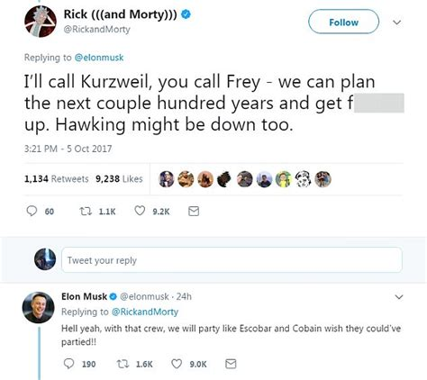 elon musk rick and morty twitter elon musk has a bizarre twitter chat with rick and morty